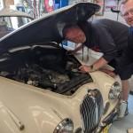 Graham and Michael and Jaguar MK2c